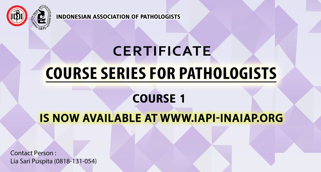 Certificate Course for Pathologists - Course 1